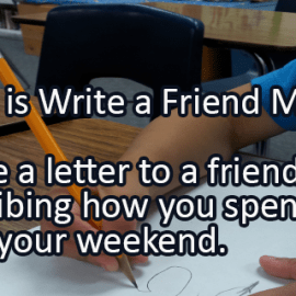 Writing Prompt for Monday, December 12: Write a Friend