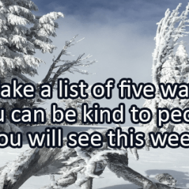Writing Prompt for January 22: Be Kind