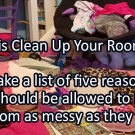 Writing Prompt for May 10: Clean Room