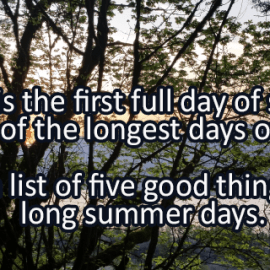 Writing Prompt for June 21: Summer!