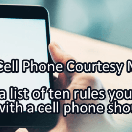 Writing Prompt for July 23: Cell Phone Courtesy