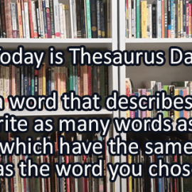 Writing Prompt for January 18: Thesaurus