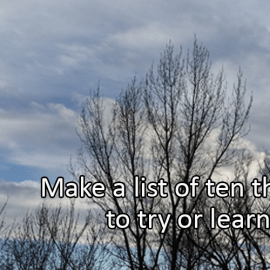 Writing Prompt for January 3: Try or Learn in 2019