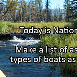 Writing Prompt for June 26: Canoe Day
