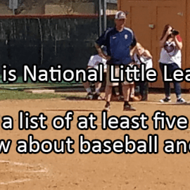 Writing Prompt for September 24: Little League