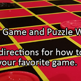 Writing Prompt for November 18: Games and Puzzles