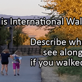 Writing Prompt for October 7: Walk to School