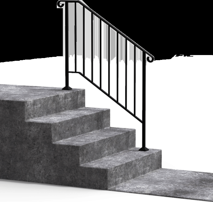 Diy Handrails Fortin Ironworks   Handrails For Outside Steps   Deck   Steep Driveway   Metal   Free Standing   Garden