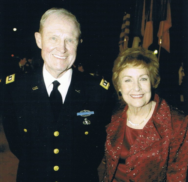 Hal and Julie Moore at the premier of We Were Soldiers