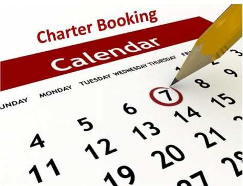 Fishing Charter Booking Calendar