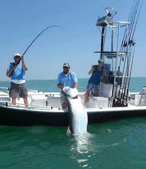 Tarpon Fishing Charter, Boca Grande Pass, 1-12-14, Fort Myers Fishing Report & Charters ~ #FortMyersFishing.