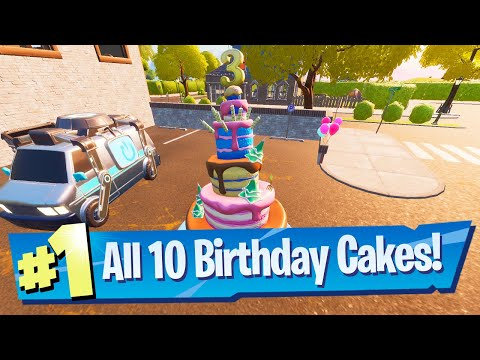 Dance In Front Of Different Birthday Cakes Location Fortnite Battle Royale