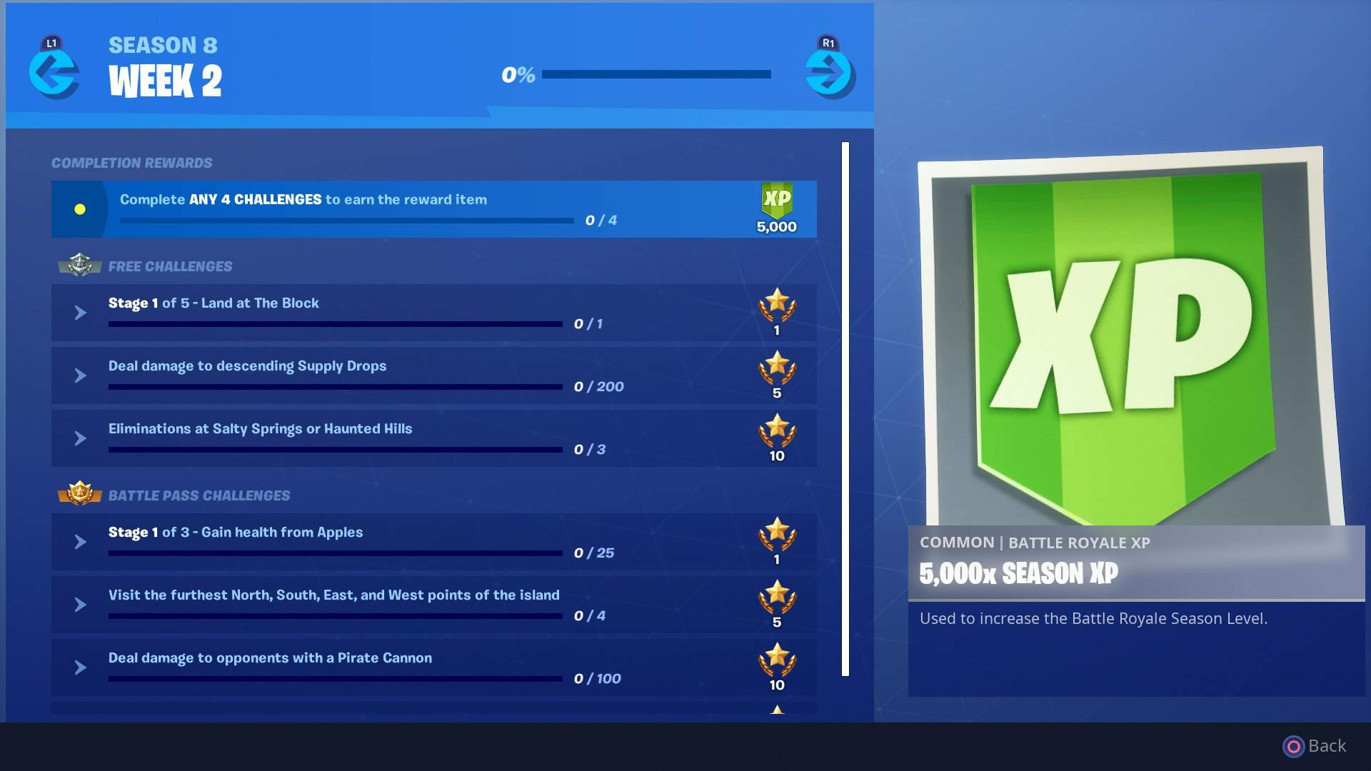 fortnite week 2 challenges of the season 8 battle pass are here including the deal damage to opponents with a pirate cannon challenge and visit the - where do apples spawn in fortnite season 8