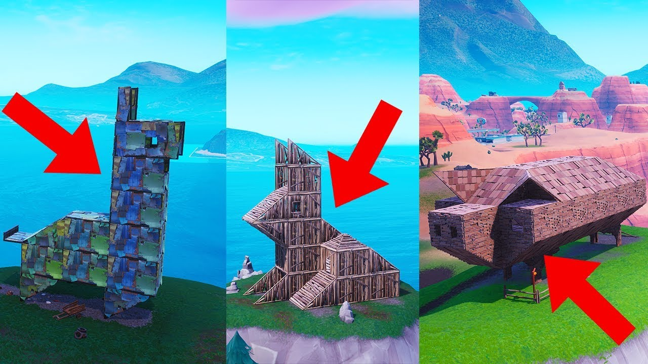 Fortnite Visit Wooden Rabbit Stone Pig Metal Llama Locations