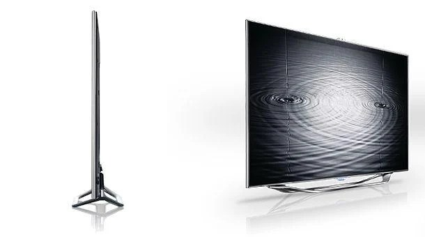Samsung Series 8 TV - Side