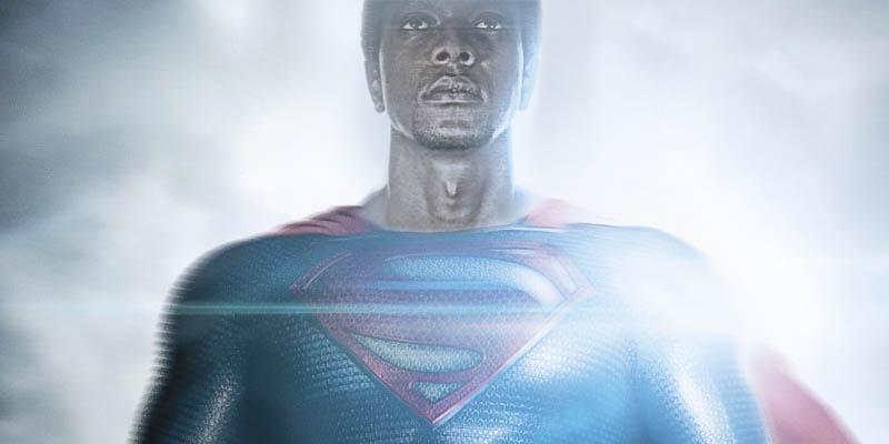 black superman fan art