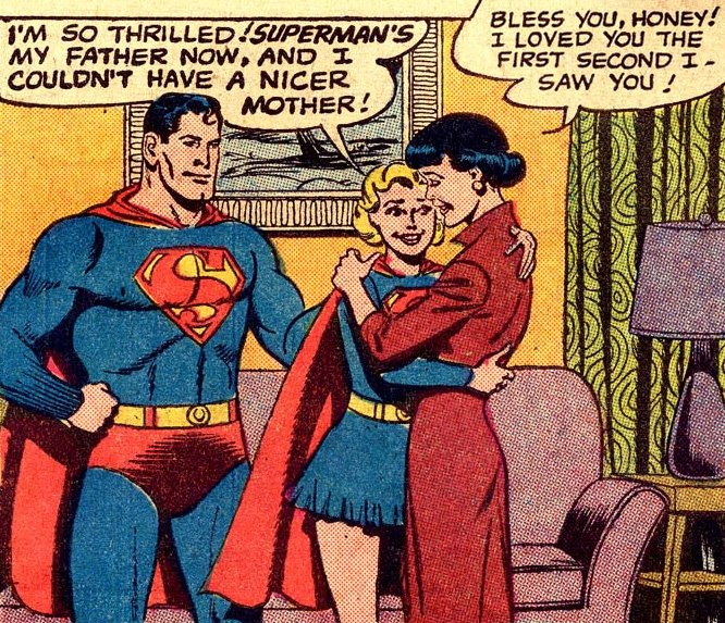 Adopted Supergirl, with Lois Lane in Superman's Girl Friend Lois Lane #20 (October 1960)