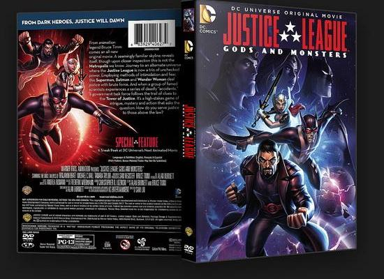 Justice League Gods and Monsters (2015) DVD Cover