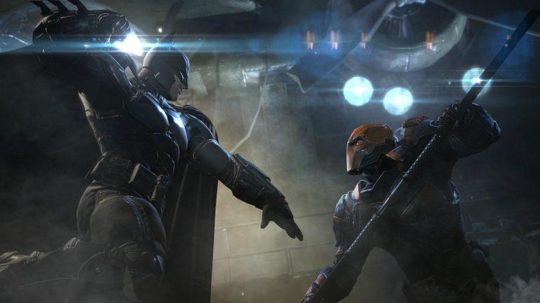 deathstroke Batman fight