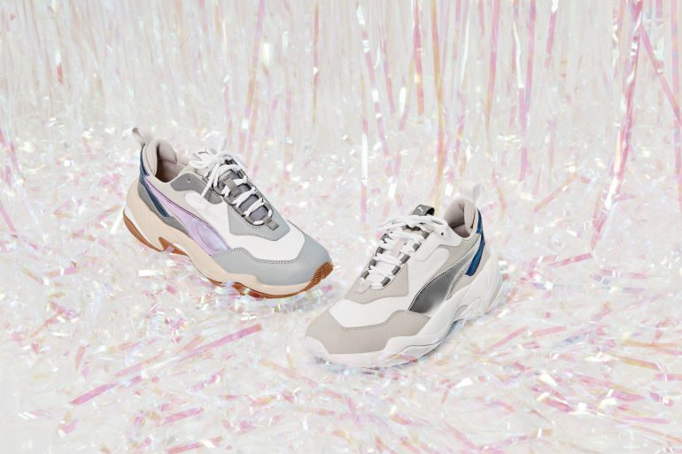 Women Wear Dad Shoes For Father's Day With PUMA Thunder Electric