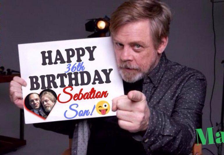 Mark Hamill Sends Sebastian Stan Hilarious Birthday Message