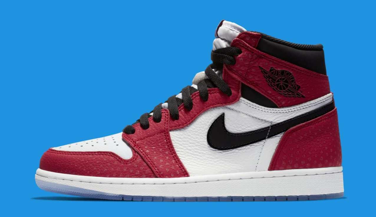 online retailer ee37d f6334 Nike Drops Spider-Verse Inspired Air Jordan 1 Retro High OG ...