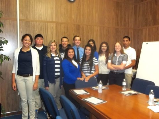 Youth Leadership class after their meeting