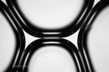 Soap bubbles under a microscope