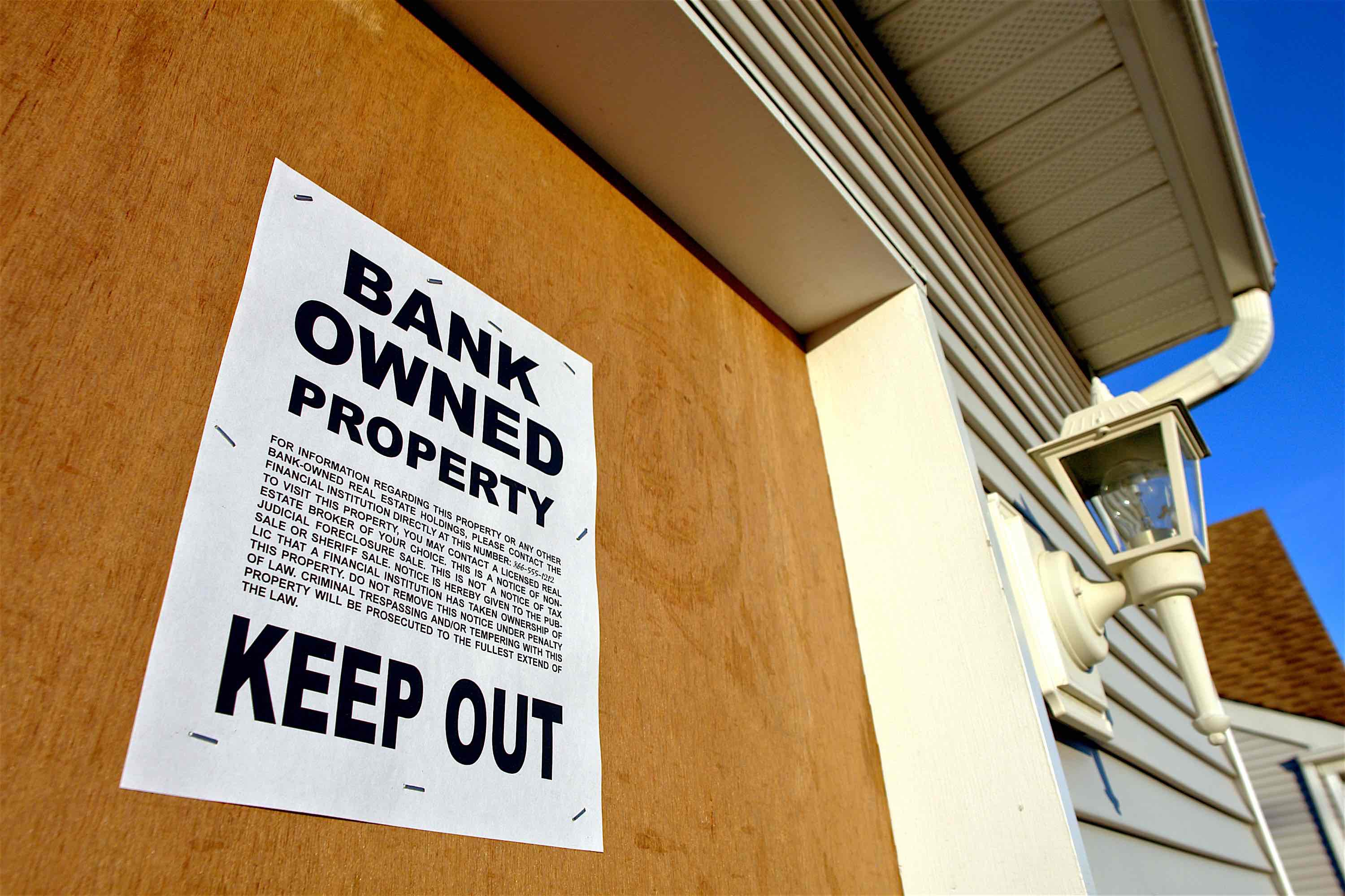 Bank Properties Foreclosed