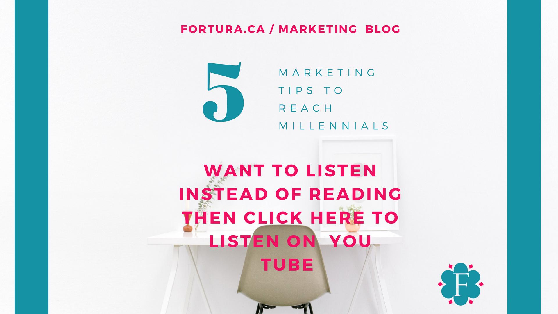 5 Marketing Tips To Reach Millennials Strengthen Your