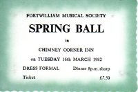 1982 Spring Ball ticket