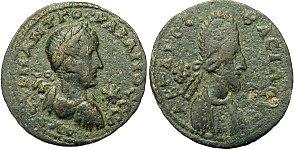 Kingdom of Edessa, Kingdom of Edessa, Mesopotamia, Abgar X with Gordian III, 242 - 244 A.D.AE 26