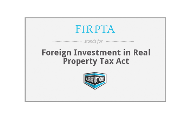 FIRPTA-外国人の不動産投資に対する米国所得税規制