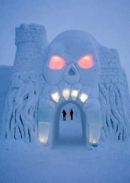 cartoon themed ice hotel in finland 1