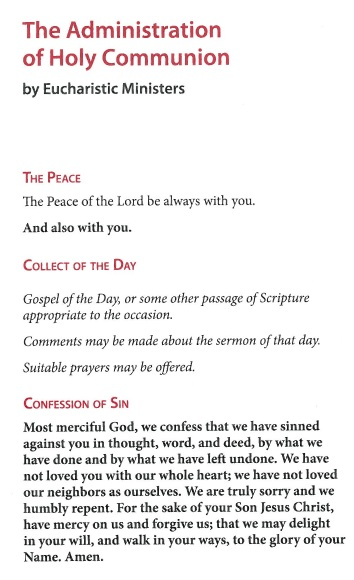 The Administration Of Holy Communion By Eucharistic