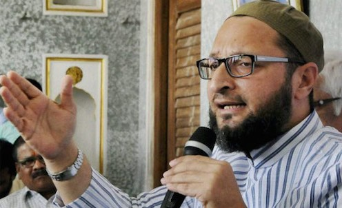 "Owaisi had tried to forge a Muslim-Dalit alliance by raising the slogan ""Jai Bheem, Jai Meem"""