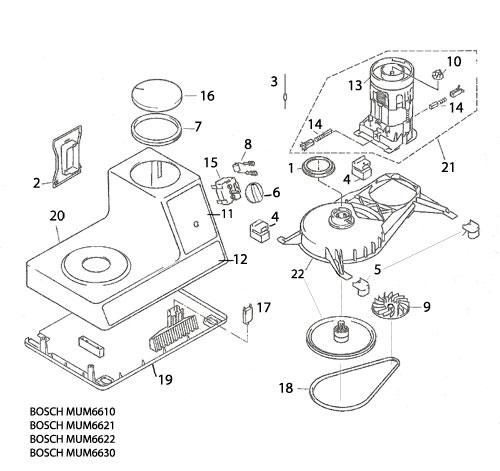 Bosch Universal Mixer Parts