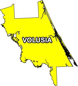 Volusia County- Spoil Island Camping Map
