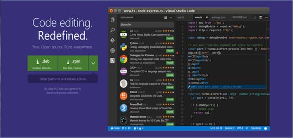 Código do Visual Studio