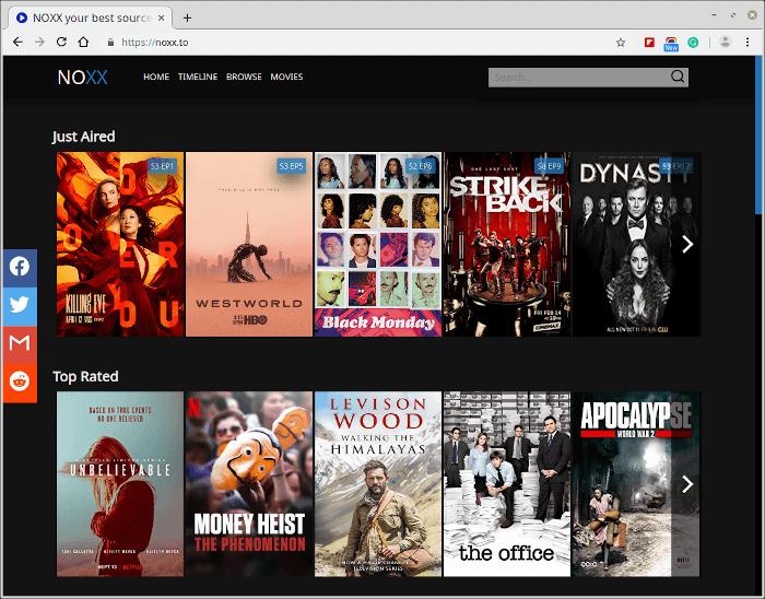 NOXX – Movie & TV Show Streaming Site
