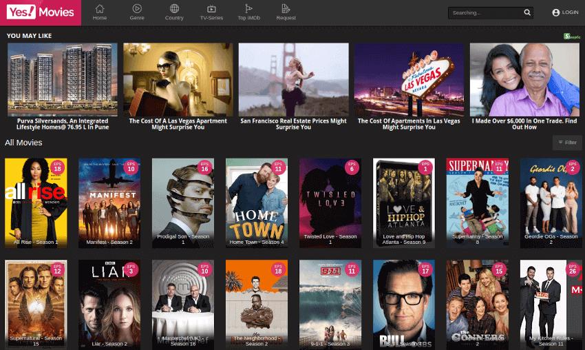 YesMovies - Movie & TV Show Streaming Site