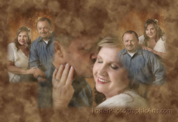 Bobby and Cindy Formal wedding portrait created by Foster Photographic Arts