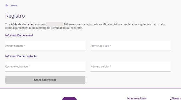 Datacrédito registro