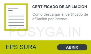 Descargar certificado afiliación eps sura