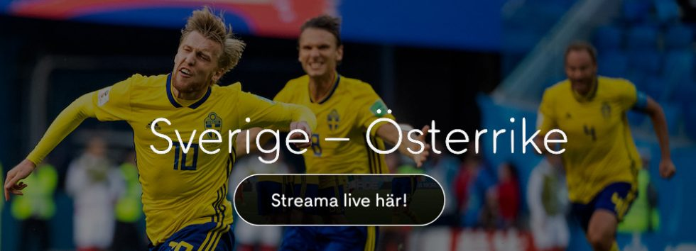 Sverige Österrike stream free? Se Sverige Österrike live stream hos Cmore!