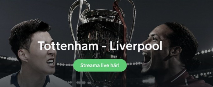Champions League live stream