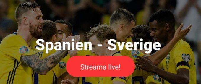Sverige Spanien stream
