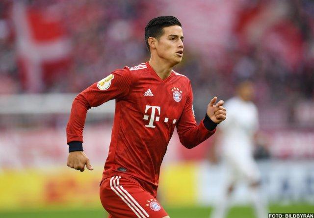 Uppgifter: Agenten kan ta James Rodriguez till Juventus