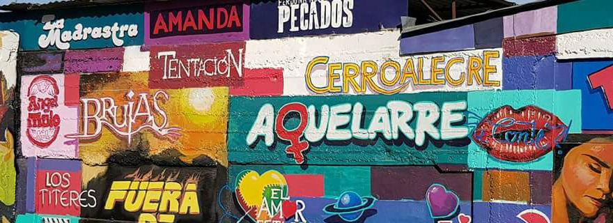 """De """"Tic-Tac"""" a """"Amanda"""": el mural que le dedicaron a las teleseries chilenas en Talca"""