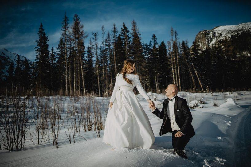 Tatry-Słowacja-Zima-Sesja-Ślubna-81